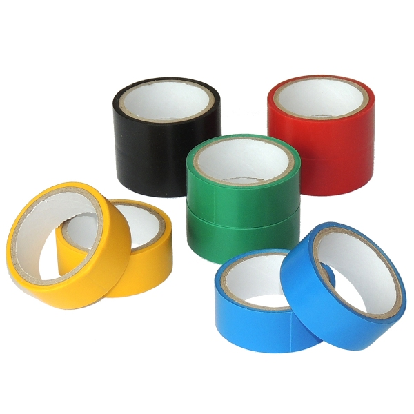 PVC Isolierband 10er Pack, farbig sortiert, Breite 17mm